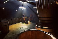 Europe/France/Poitou-Charentes/16/Charente/Cognac : Tonnellerie Seguin Moreau - Cintrage<br /> PHOTO D'ARCHIVES // ARCHIVAL IMAGES<br /> FRANCE 1990