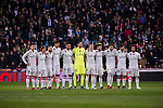 Players of Real Madrid line up and pose for a photo prior to their Copa del Rey Round of 16 match between Real Madrid and Sevilla FC at the Santiago Bernabeu Stadium on 04 January 2017 in Madrid, Spain. Photo by Diego Gonzalez Souto / Power Sport Images