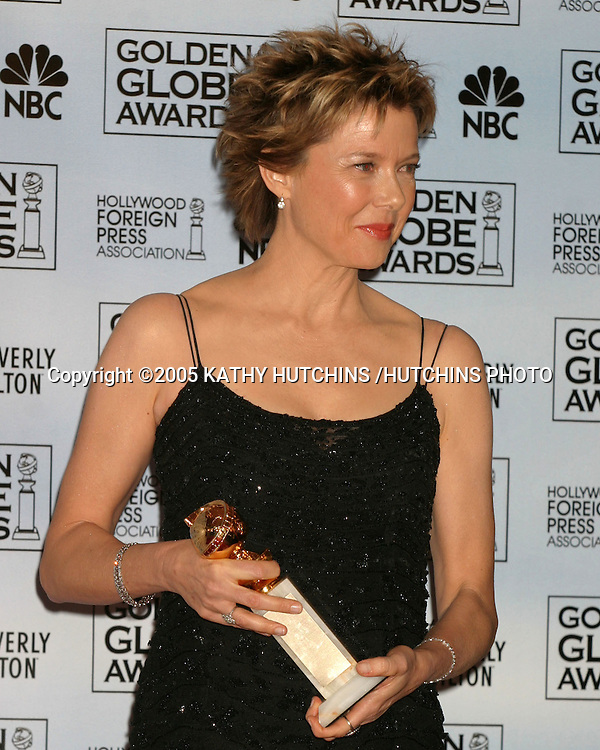 ©2005 KATHY HUTCHINS /HUTCHINS PHOTO.62ND GOLDEN GLOBES.BEVERLY HILLS, CA.JANUARY 16, 2005..ANNETTE BENING..