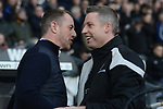 Derby County manager Gary Rowett and Millwall manager Neil Harris before the championship league match between Derby and Millwall at Pride Park Stadium, Derby. Picture date 23rd December 2017. Picture credit should read: Joe Perch/Sportimage