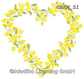 Kate, FLOWERS, BLUMEN, FLORES, paintings+++++Buttercup Heart,GBKM51,#f#, EVERYDAY ,heart of flowers,valentine
