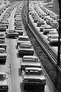 01 Jun 1969, Queens, New York City, New York State, USA, Highway Traffic on the Van Wyck Expressway.