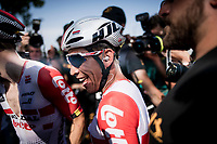Caleb Ewan (AUS/Lotto-Soudal) is overjoyed as he wins the bunchsprint into Nîmes, his 2nd stage win in his first Tour<br /> <br /> Stage 16: Nîmes to Nîmes (177km)<br /> 106th Tour de France 2019 (2.UWT)<br /> <br /> ©kramon