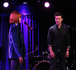 "Kate Baldwin and Bryce Pinkham during the Sneak Peak Presentation of the World Premiere Musical ""Superhero"" on January 16, 2019 at the Green Room 42 in New York City."