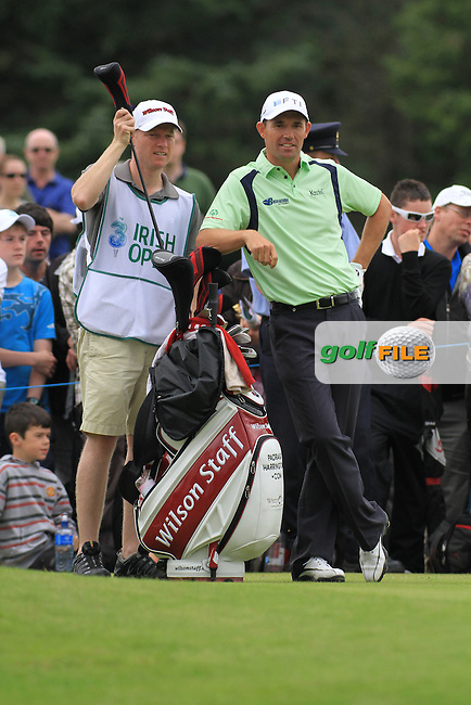 Padraig Harrington Teeing off on the 18th teebox during the final day of the 3 Irish Open, at the Killarney Golf and Fishing Club, Killarney, Ireland.Picture Fran Caffrey/www.golffile.ie.