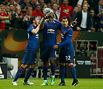 Paul Pogba of Manchester United celebrates scoring the first goal and looks towards the heavens during the UEFA Europa League Final match at the Friends Arena, Stockholm. Picture date: May 24th, 2017.Picture credit should read: Matt McNulty/Sportimage