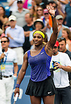 Serena Williams (USA) defeats Caroline Wozniacki (DEN) 2-6, 6-2, 6-4