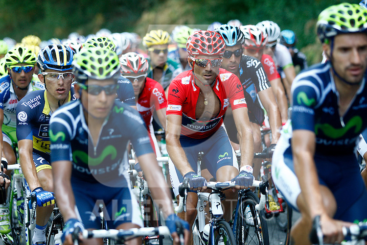 Alejandro Valverde during the stage of La Vuelta 2012 between Barakaldo and Valdezcaray.August 21,2012. (ALTERPHOTOS/Paola Otero)