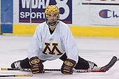 Ben Gordon - The University of Minnesota Golden Gophers took part in their morning skate at Ralph Engelstad Arena in Grand Forks, North Dakota, on Saturday, December 10, 2005.