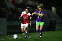 Danielle van de Donk of Arsenal and Ella Rutherford of Bristol during Arsenal Women vs Bristol City Women, FA Women's Super League Football at Meadow Park on 14th March 2019