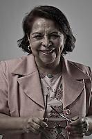 Celia Maya, candidata a la gubernatura del estado por el partido Movimiento de regeneración nacional (Morena).
