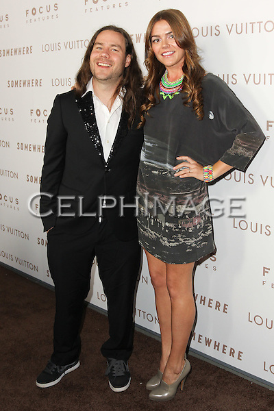 "CHRIS PONTIUS, CLAIRE NOLAN. Premiere of Focus Features' ""Somewhere"" at the Arclight Hollywood Cinema.  Los Angeles, CA, USA. December 7, 2010. ©Celphimage."