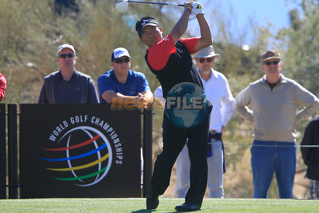 K.J. Choi in action on the 14th tee during Day 2 of the Accenture Match Play Championship from The Ritz-Carlton Golf Club, Dove Mountain, Thursday 24th February 2011. (Photo Eoin Clarke/golffile.ie)