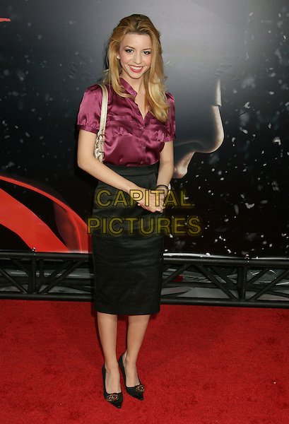 "MASIELA LUSHA.""The Spirit"" Los Angeles Premiere held at Grauman's Chinese Theater, Hollywood, California, USA..December 17th, 2008.full length black skirt pink purple blouse silk satin .CAP/ADM/MJ.©Michael Jade/AdMedia/Capital Pictures."