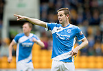 St Johnstone v RangersÖ21.05.17     SPFL    McDiarmid Park<br /> Steven MacLean points the way<br /> Picture by Graeme Hart.<br /> Copyright Perthshire Picture Agency<br /> Tel: 01738 623350  Mobile: 07990 594431