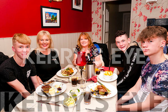 50th Birthday: Marie Wright, Glin, centre celebrating her 50th birthday at Eabha Joan's Restaurant, Listowel on Saturday night last. L- R: Dylan & Margaret , Marie, Conor & Nathan Wright.