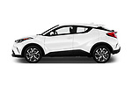 Car Driver side profile view of a 2019 Toyota C-HR Limited Door SUV Side View