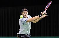 Rotterdam, Netherlands, 9 februari, 2019, Ahoy, Tennis, ABNAMROWTT, Supermatch semifinal: DENIS KUDLA (USA)<br /> Photo: Henk Koster/tennisimages.com