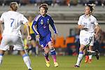 (L-R)  Mizuho Sakaguchi (JPN),  Martina Rosucci (ITA),  MAY 28, 2015 - Football / Soccer : KIRIN Challenge Cup 2015 match between Japan 1-0 Italy at Minaminagano Sports Park, <br /> Nagano, Japan. (Photo by Yusuke Nakansihi/AFLO SPORT)