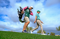 Trey Mullinax (USA) walking off the 9th tee during the 3rd round of the Waste Management Phoenix Open, TPC Scottsdale, Scottsdale, Arisona, USA. 02/02/2019.<br /> Picture Fran Caffrey / Golffile.ie<br /> <br /> All photo usage must carry mandatory copyright credit (© Golffile | Fran Caffrey)