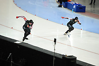 SPEEDSKATING: SALT LAKE CITY: 08-12-2017, Utah Olympic Oval, ISU World Cup, 500m Men A-Division, Alex Boisvert-Lacroix (CAN), Laurent Dubreuil (CAN), ©photo Martin de Jong