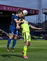 Bolton Wanderers' Daryl Murphy competing with Rochdale's Luke Matheson (left) <br /> <br /> Photographer Andrew Kearns/CameraSport<br /> <br /> The EFL Sky Bet League One - Rochdale v Bolton Wanderers - Saturday 11th January 2020 - Spotland Stadium - Rochdale<br /> <br /> World Copyright © 2020 CameraSport. All rights reserved. 43 Linden Ave. Countesthorpe. Leicester. England. LE8 5PG - Tel: +44 (0) 116 277 4147 - admin@camerasport.com - www.camerasport.com