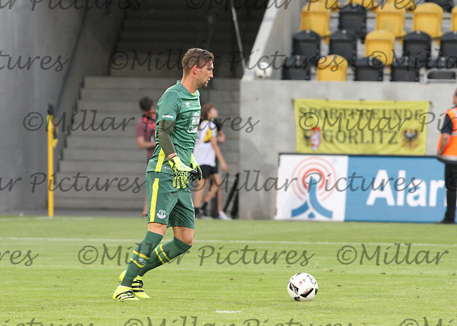 Martin Stekelenburg in the Dynamo Dresden v Everton match in the Bundeswehr Karriere Cup Dresden 2016 played at the DDV Stadion, Dresden on 29.7.16.