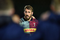 Chris Robshaw of Harlequins looks on in a post-match huddle. Gallagher Premiership match, between Harlequins and Leicester Tigers on May 3, 2019 at the Twickenham Stoop in London, England. Photo by: Patrick Khachfe / JMP