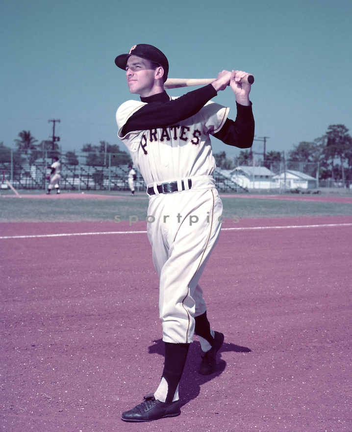 Pittsburgh Pirates Dick Groat (24) portrait from his 1956 season with the Pittsburgh Pirates. Dick Groat played for 14 years with 4 different teams. Dick Groat was a 5-time All-Star and was 1960 National League MVP.