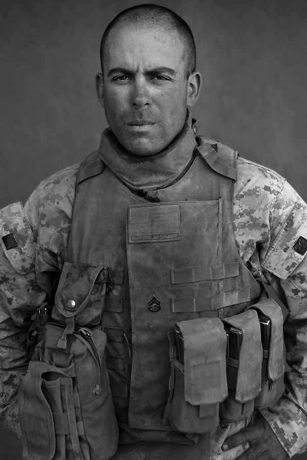 Staff Sgt. John Saul, 28, Dallas, Lewiston, New York, Second Platoon, Kilo Co., 3rd Battalion 1st Marines, United States Marine Corps, at the company's firm base in Haditha, Iraq on Sunday Oct. 22, 2005.