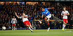 25.10.18 Rangers v Spartak Moscow: Alfredo Morelos latches on to the rebound but fails to score