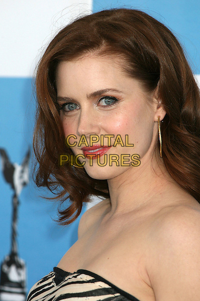 AMY ADAMS.2007 Film Independent's Spirit Awards at the Santa Monica Pier, Santa Monica, California, USA,.24 February 2007..portrait headshot strapless black and white dress red lipstick.CAP/ADM/BP.©Byron Purvis/AdMedia/Capital Pictures.