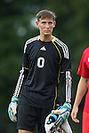 19 August 2014: Radford's Kolby Johnson. The Duke University Blue Devils hosted the Radford University Highlanders at Koskinen Stadium in Durham, NC in a 2014 NCAA Division I Men's Soccer preseason match.