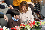 Maria Dolores de Cospedal García, General Secretary of the Popular Party and her son during Madrid Open Tennis 2016 Semifinal match.May, 7, 2016.(ALTERPHOTOS/Acero)