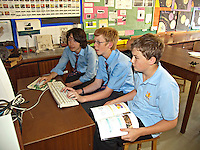 Schoolchildren taking part in an IT lesson. This image may only be used to portray the subject in a positive manner..©shoutpictures.com..john@shoutpictures.com