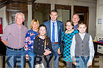 Tomas O'Sé  with some fans at the launch of his autobiography The White Heat in the Brehon Hotel on Sunday night l-r: Pat, Mary and Alanna Collins Athea, Kieran, Marcella and Darragh Mullvihill Listowel