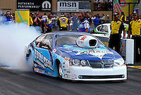 Jul. 19, 2013; Morrison, CO, USA: NHRA pro stock driver Matt Hartford during qualifying for the Mile High Nationals at Bandimere Speedway. Mandatory Credit: Mark J. Rebilas-