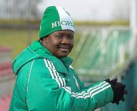 U17 : Belgian Red Flames - Nigeria <br /> <br /> Lid van de Nigeriaanse delegatie<br /> <br /> foto Dirk Vuylsteke / Nikonpro.be