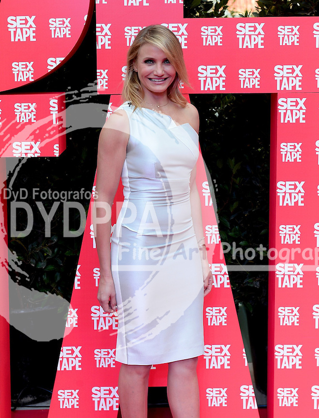 Sex Tape film promotion in Barcelona, Spain on June 18, 2014. Photo by P.D. / Photocall 3000/ DYD Fotografos-DYDPPA<br /> Cameron Diaz