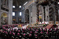 Pope Francis presides over the Profession of Faith with the Italian Bishops' Conference at St Peter's basilica at the Vatican. May 23, 2013