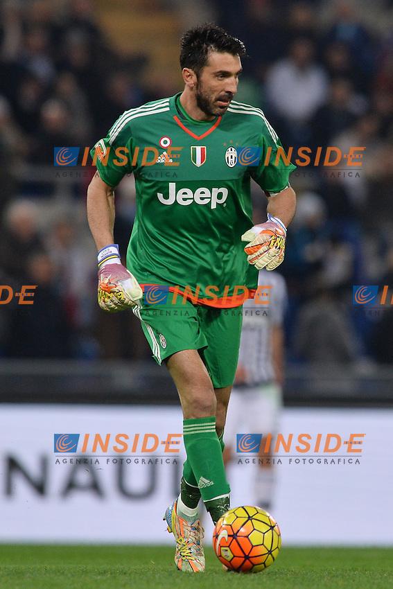 Gianluigi Buffon Juventus.<br /> Roma 4-12-2015 Stadio Olimpico, Football Calcio 2015/2016 Serie A Lazio - Juventus. Foto Antonietta Baldassarre / Insidefoto