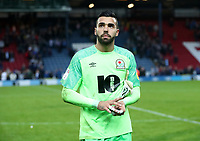 Blackburn Rovers' David Raya at the end of todays match<br /> <br /> Photographer Rachel Holborn/CameraSport<br /> <br /> The EFL Sky Bet Championship - Blackburn Rovers v Aston Villa - Saturday 15th September 2018 - Ewood Park - Blackburn<br /> <br /> World Copyright &copy; 2018 CameraSport. All rights reserved. 43 Linden Ave. Countesthorpe. Leicester. England. LE8 5PG - Tel: +44 (0) 116 277 4147 - admin@camerasport.com - www.camerasport.com