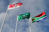 9th September 2017, Galway Sportsground, Galway, Ireland; Guinness Pro14 Rugby, Connacht versus Southern Kings; The Galway, Connacht and South Africa flags fly as Connacht welcome the Southern Kings to The Sportsgrounds
