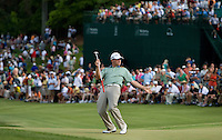 PGA golfer Jason Bohn reacts after missing a putt during the 2008 Wachovia Championships at Quail Hollow Country Club in Charlotte, NC.