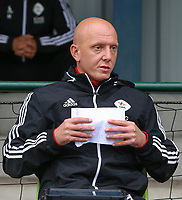 OHL's assistant coach Arno Van Den Abbeel pictured before a female soccer game between Oud Heverlee Leuven and AA Gent Ladies  on the first matchday of the 2020 - 2021 season of Belgian Women's SuperLeague , sunday 30 of August 2020  in Heverlee , Belgium . PHOTO SPORTPIX.BE | SPP | SEVIL OKTEM