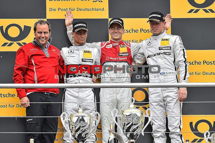 DTM 2015, 01.Lauf Hockenheimring, 01.05. - 03.05.15 <br /> Podium:<br /> 2. Platz f&uuml;r Pascal Wehrlein (DEU#94) gooix/Original-Teile Mercedes-AMG C-Coup&eacute;, Sieger Jamie Green (GBR#53) Audi Sport Team Rosberg Audi RS 5 DTM , 3. Platz f&uuml;r Paul Di Resta (GBR#3) Silberpfeil Energy Mercedes-AMG C-Coup&eacute; <br /> <br /> <br /> <br /> Foto &copy; nordphoto /  Bratic