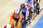 Engeland, London, 3 Augustus 2012.Olympische Spelen London.Baanwielrennen .Willy Kanis in actie op de Olympische Spelen in London.