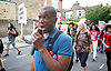 Mark Duggan <br /> march and demonstration / vigil at the Broadwater Estate and outside Tottenham Police Station, Tottenham, London, Great Britain <br /> 4th August 2017 <br /> <br /> on the 6th anniversary after he was killed in 2011. <br /> <br /> Stafford Scott (campaigner) <br /> <br /> Photograph by Elliott Franks <br /> Image licensed to Elliott Franks Photography Services