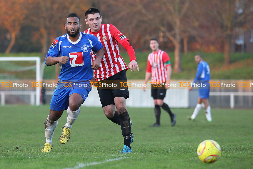 Joe Christou in action for Hornchurch - AFC Hornchurch vs Leiston - Ryman League Premier Division Football at the Stadium, Bridge Avenue, Upminster Bridge - 06/12/14 - MANDATORY CREDIT: Gavin Ellis/TGSPHOTO - Self billing applies where appropriate - contact@tgsphoto.co.uk - NO UNPAID USE