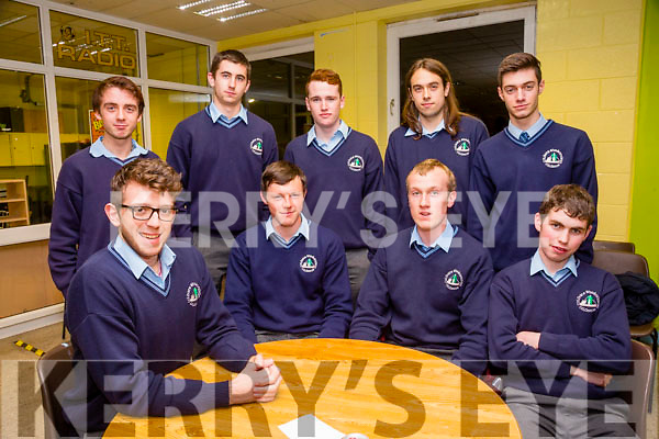 St Brendan's College Killarney, l-r  Patrick Courtney, Eoin Cronin, David Carroll and Kieran Sheehan. Back l-r  Oisin Moore, Ben O'Rourke, Kian Flemming, Kuba Labecki and Gianmarco Rosati at the ISTA  senior science quiz in the IT South Campus on Thursday